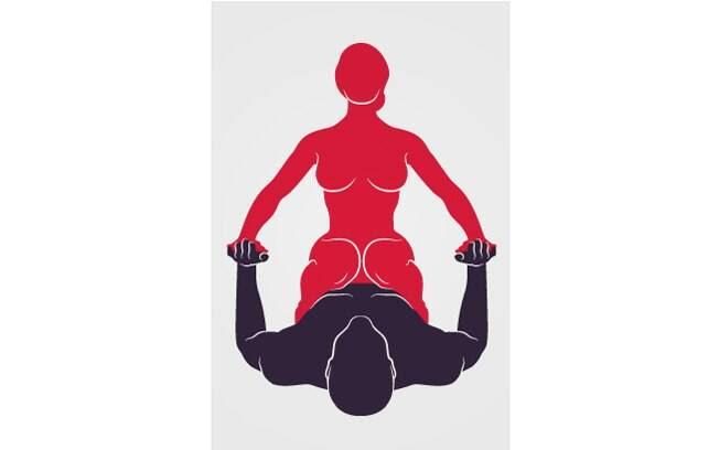 1. AGACHAMENTO ERÓTICO: Ela faz um agachamento ritmado sobre o corpo dele, que deve estar deitado e dando apoio com as mãos. Foto: Renato Munhoz (Arte iG)