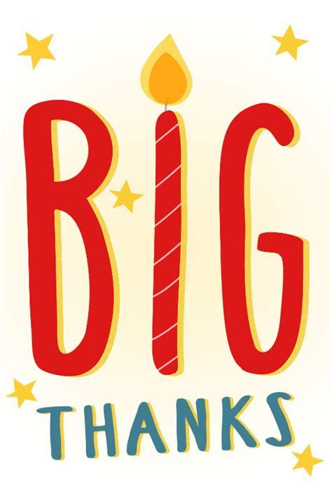 Big Thanks   Free Thank You Card Template   Greetings Island