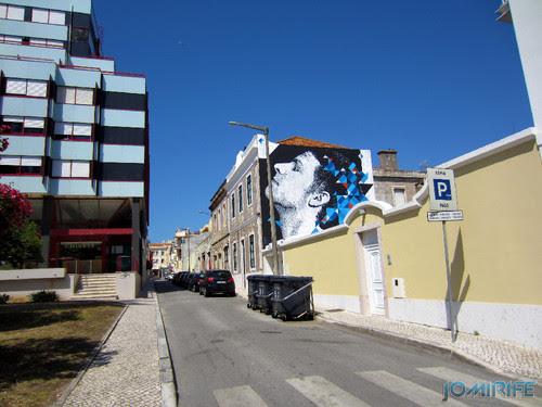 Arte Urbana by Eime - Rosto a olhar o céu na Figueira da Foz Portugal (2) [en] Urban art by Eime - Face looking at the sky in Figueira da Foz, Portugal