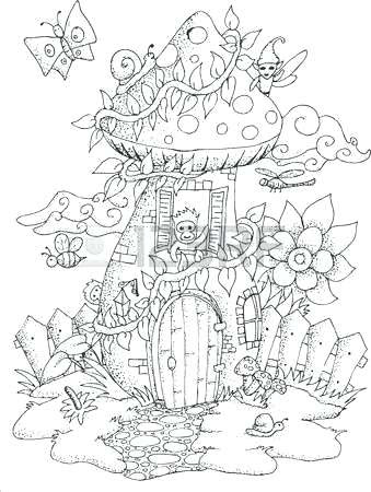 Fairy House Coloring Pages at GetColorings.com | Free ...