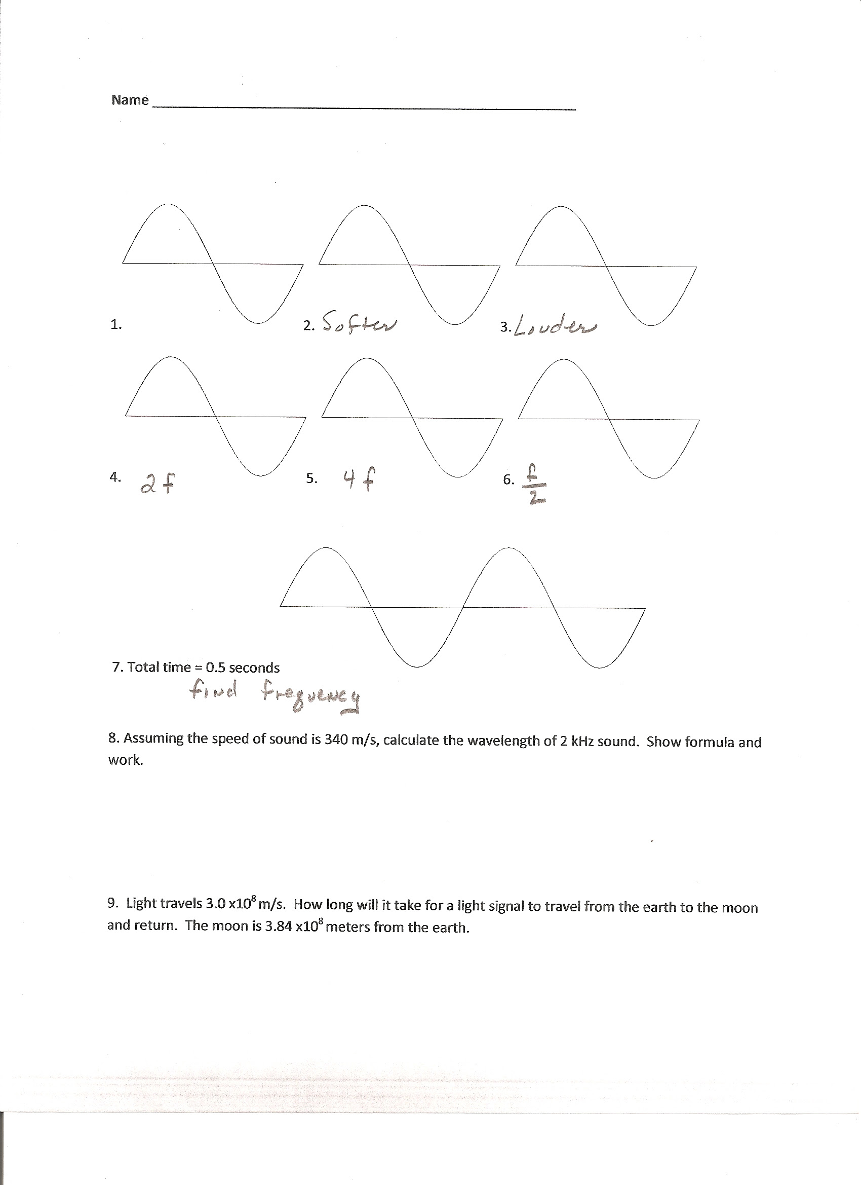29 Physical Science Wave Calculations Worksheet Answers ...