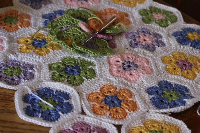 African Flowers Lap Blanket