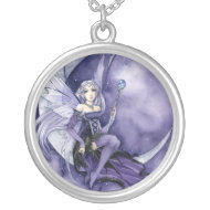 Purple Moon Fairy necklace Meredith Dillman necklace