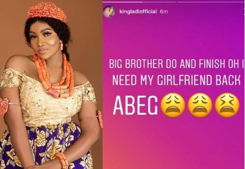 #BBNaijaTwist #BBNaija, I Need My Girlfriend Back' – Tacha's boo Cries Out On Instagram