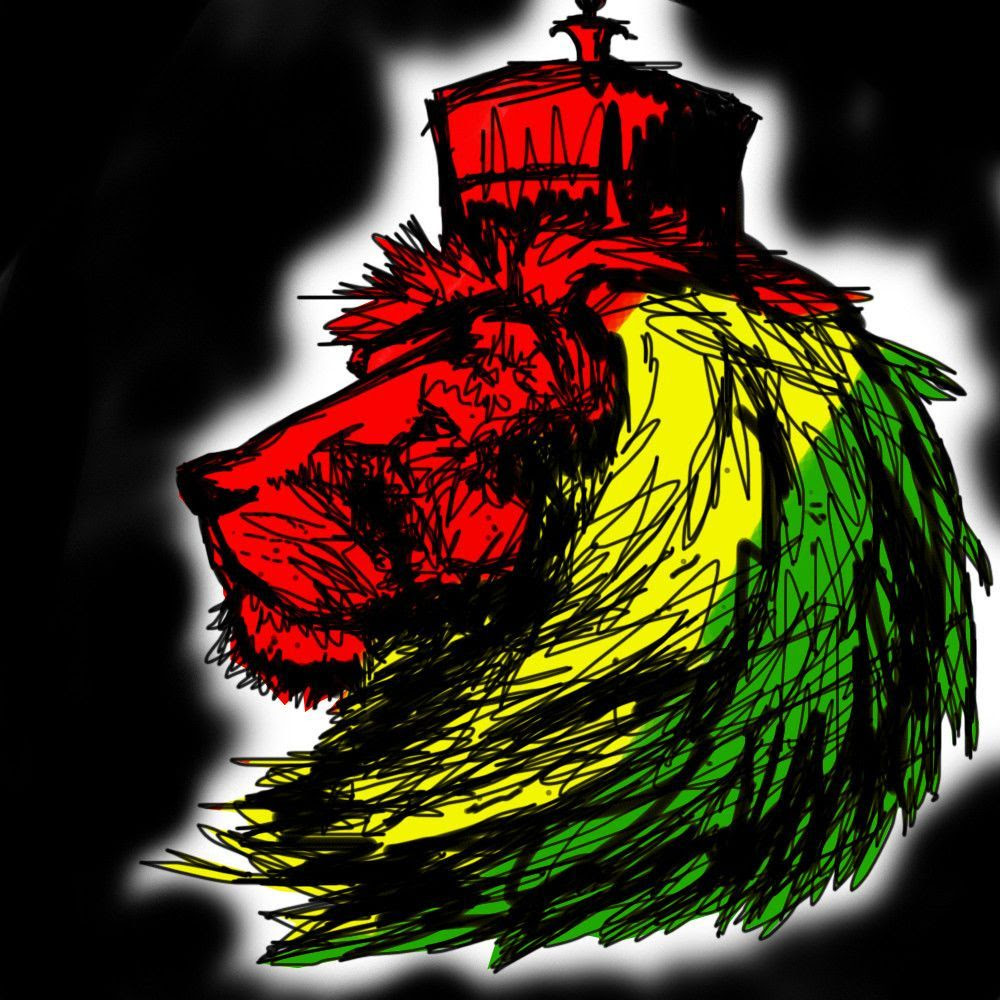 Rasta Lion Wallpaper 1000x1000