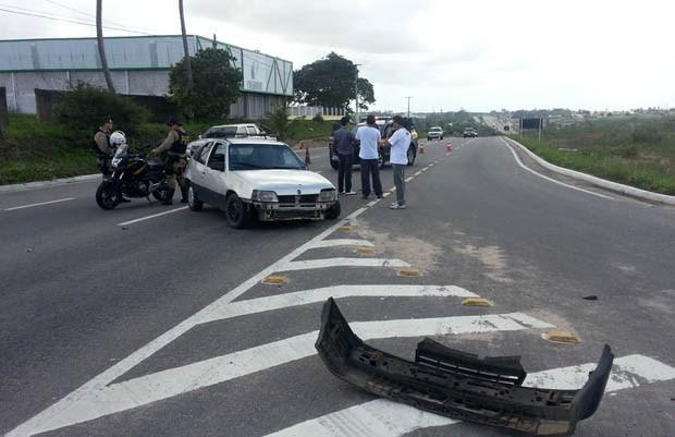 Acidente na BR-304 deixa uma mulher morta (Foto: Jorge Talmon/G1)