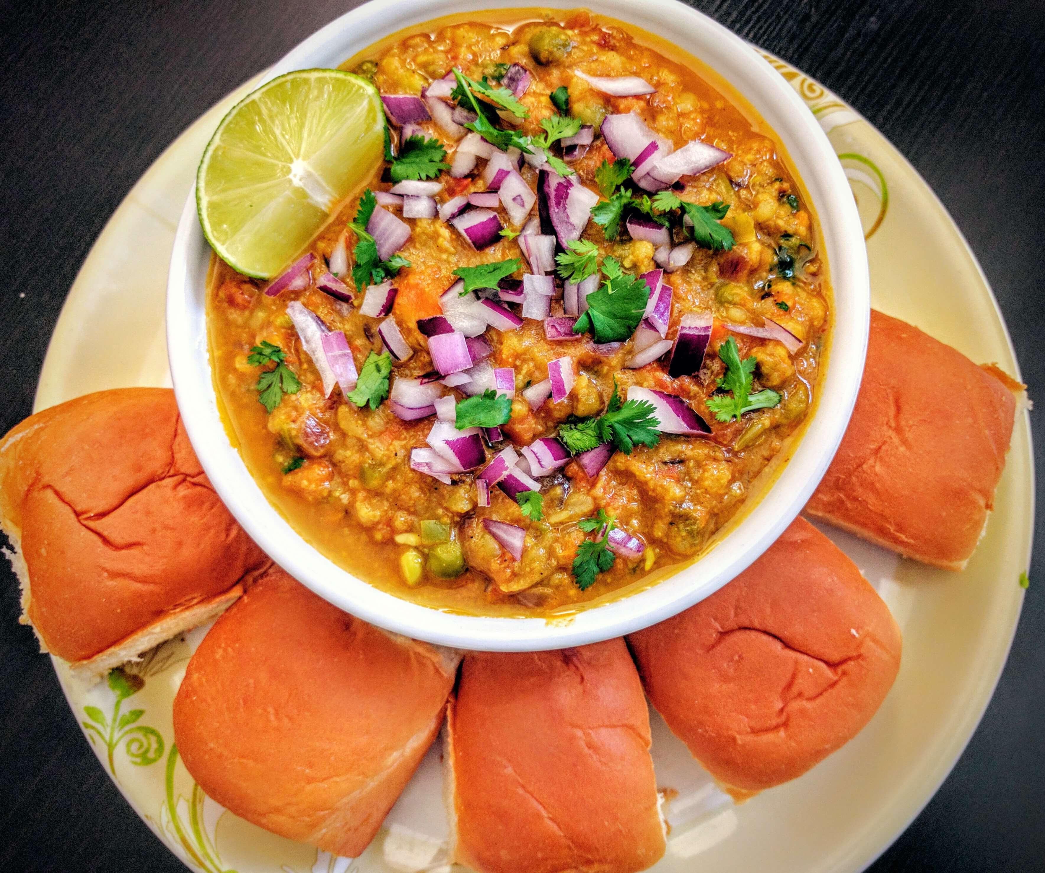 Pav Bhaji Recipe | VegeCravings