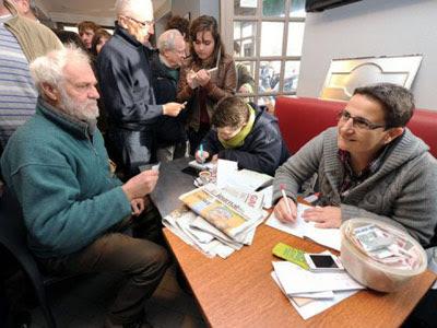 La colecta organizada este 22 de diciembre en Bayona (Francia) para pagar la fianza de Aurore Martin.