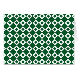 Green and White Diamond Pattern