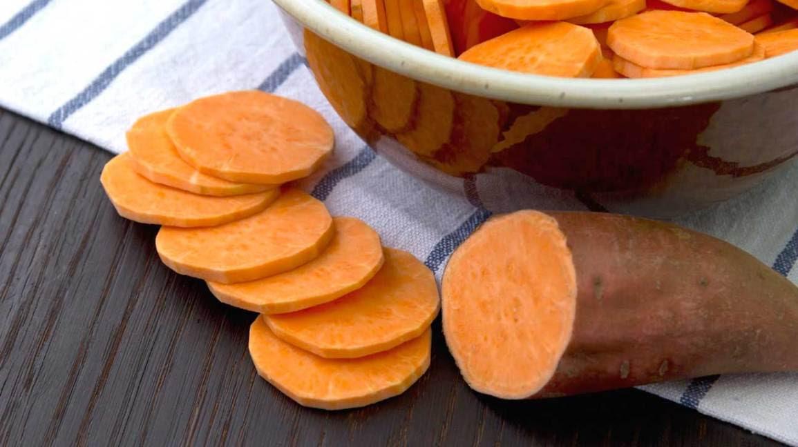 Sweet potato sliced orange