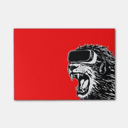 VR Lion Post-it® Notes