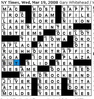 Rex Parker Does the NYT Crossword Puzzle: WEDNESDAY, Mar ...
