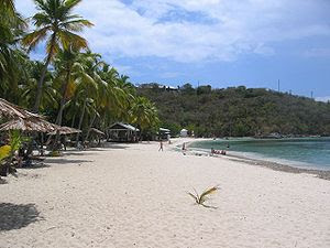 A beautiful view of Honeymoon beach on Water I...
