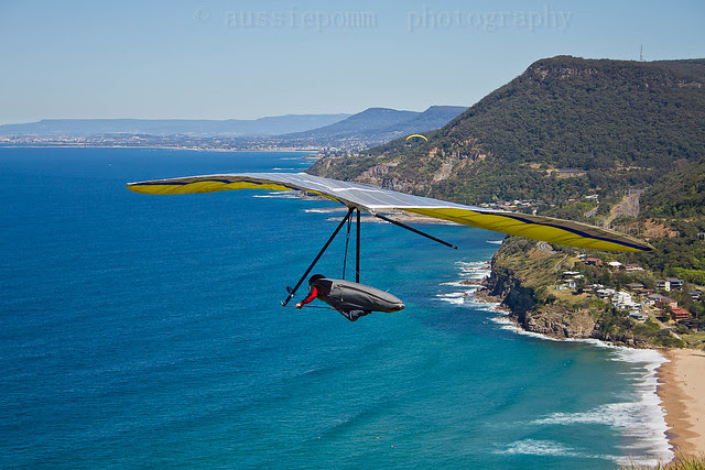 Airborne - with Wollongong in the distance...