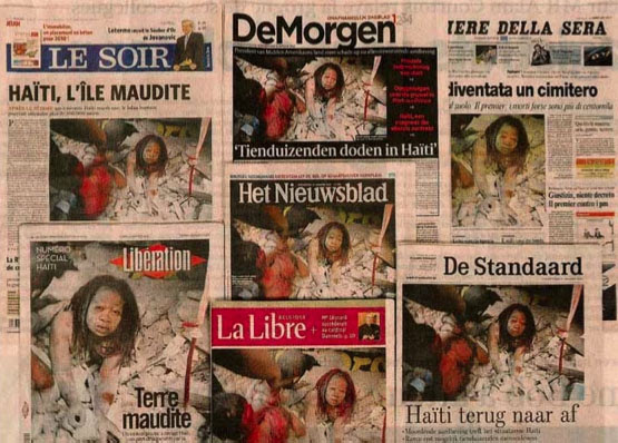 Morel's photograph was published on the front pages of newspapers around the world without his permission
