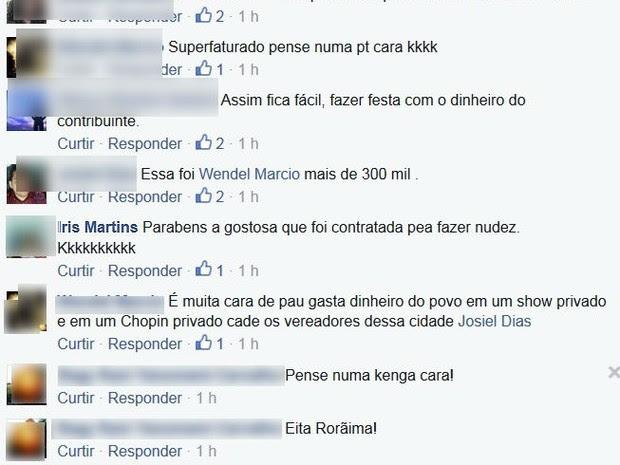 Internautas criticaram valor cobrado pelo show (Foto: Reprodução/Facebook)