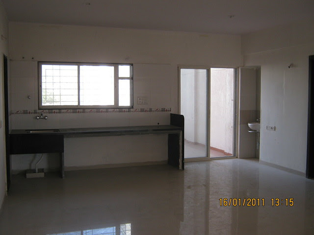Spacious kitchen cum dining in Alliance BellAir - Ready Possession 2 BHK & 3 BHK Flats - in Ram Indu Park, Baner, Pune 411 045