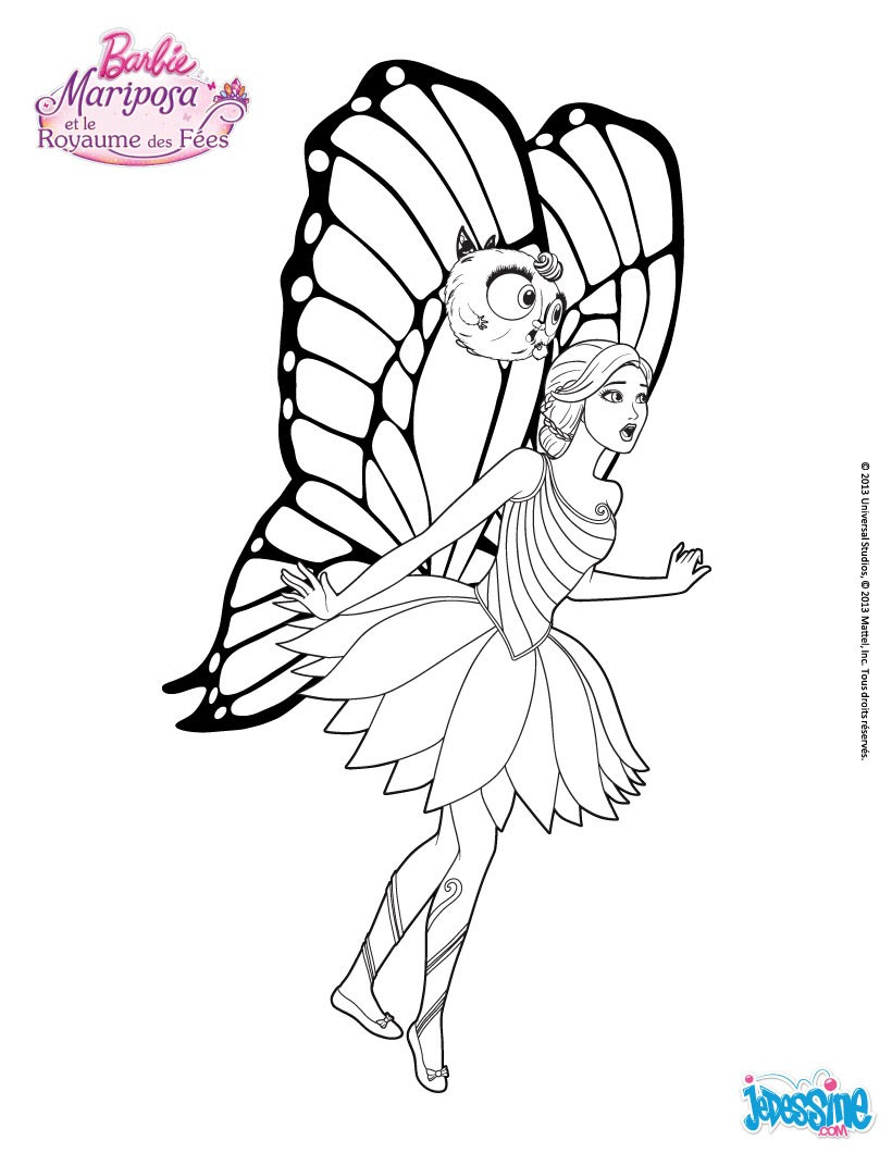 cheap coloriage barbie la fe mariposa with jeux de coloriage de barbie