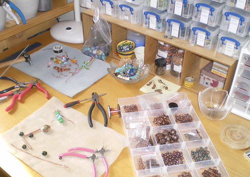 Bead table wednesday 6/4/2011 by THEAjewellery