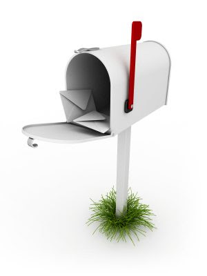 mailbox stuffed with cards