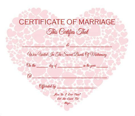 18  Sample Marriage Certificate Templates to Download