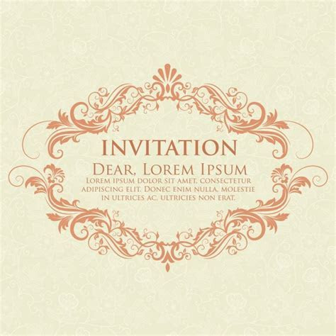 Wedding invitation and announcement card with vintage