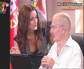 Marina Santiago sensual na serie Camilo o Presidente