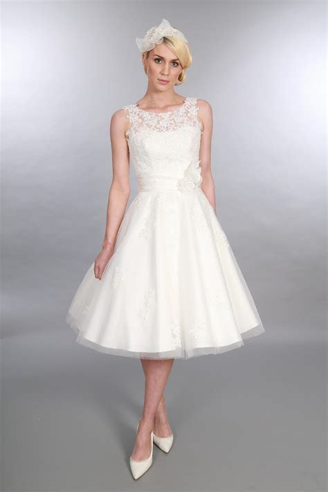 Anara Lace   Tea Length Wedding Dress from Timeless Chic