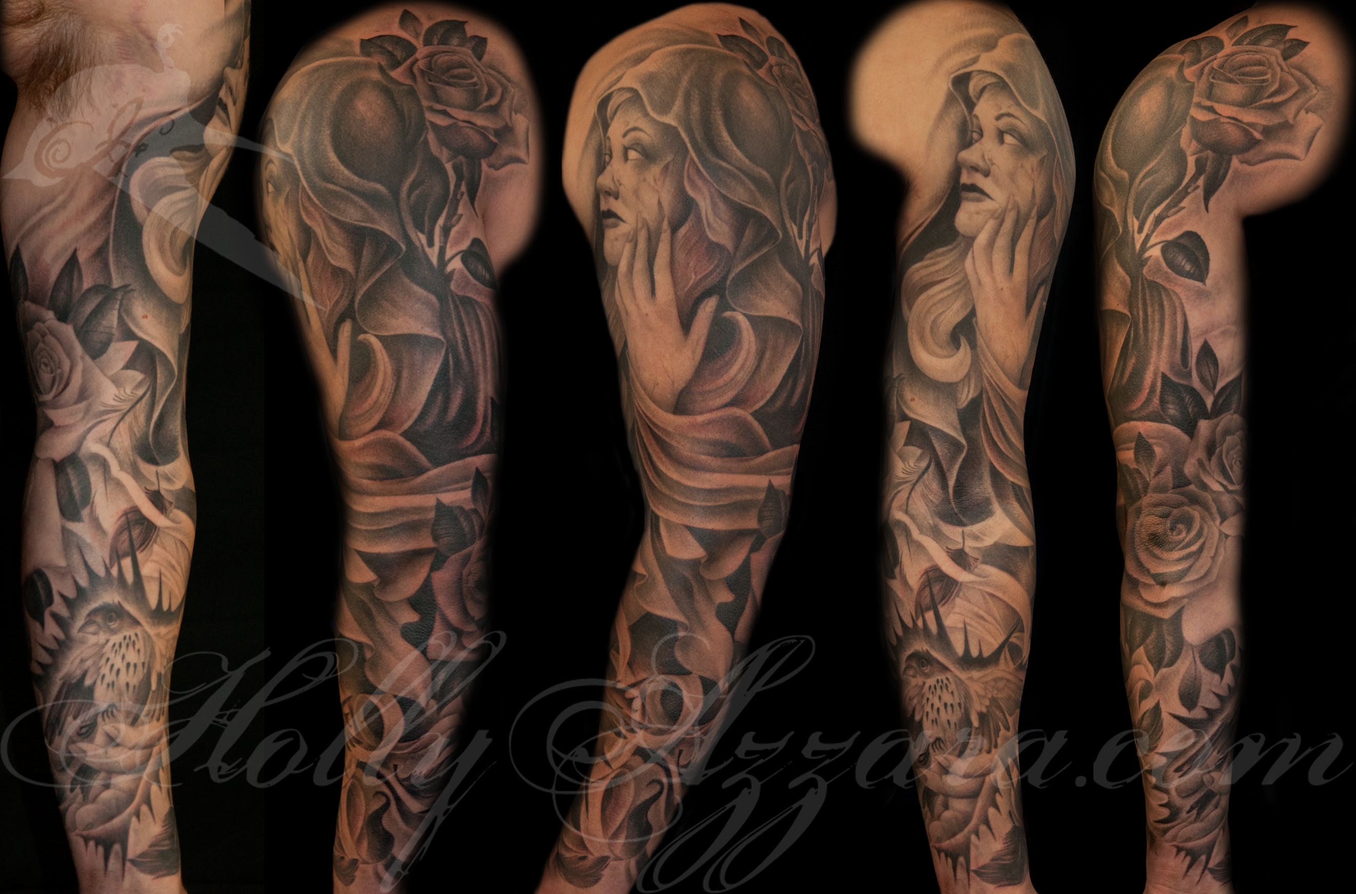 Life And Death Tattoo Sleeve