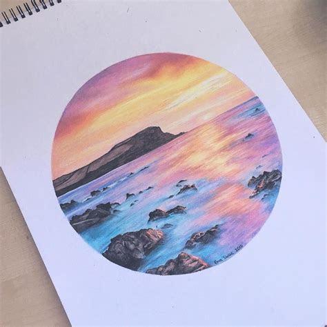 dreamy sunset ema sivac colored pencils  colored