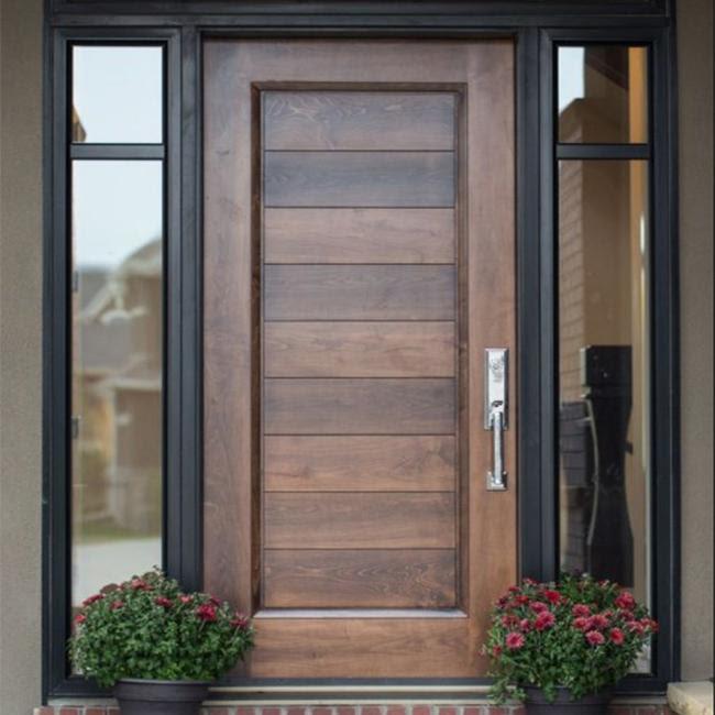 Exterior Teak Wood Single Main Door Designs Modern Wooden