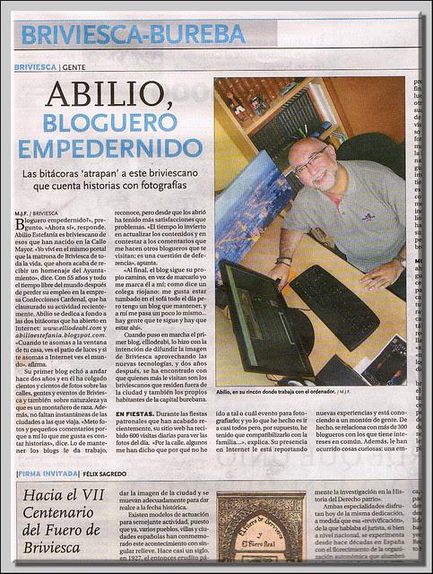 Entrevista en el Diario de Burgos