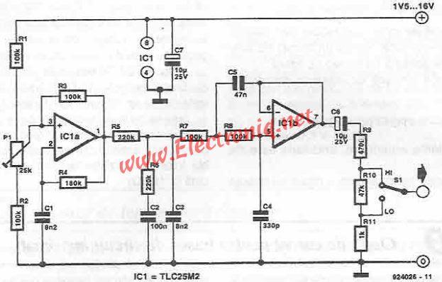 sinusoidal signal generator circuit