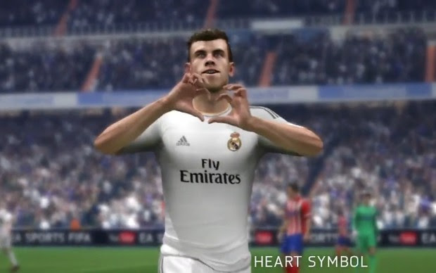 """Bale fará sua famosa comemoração """"S2"""" em Fifa 14 (Foto: Reprodução / TechTudo)"""