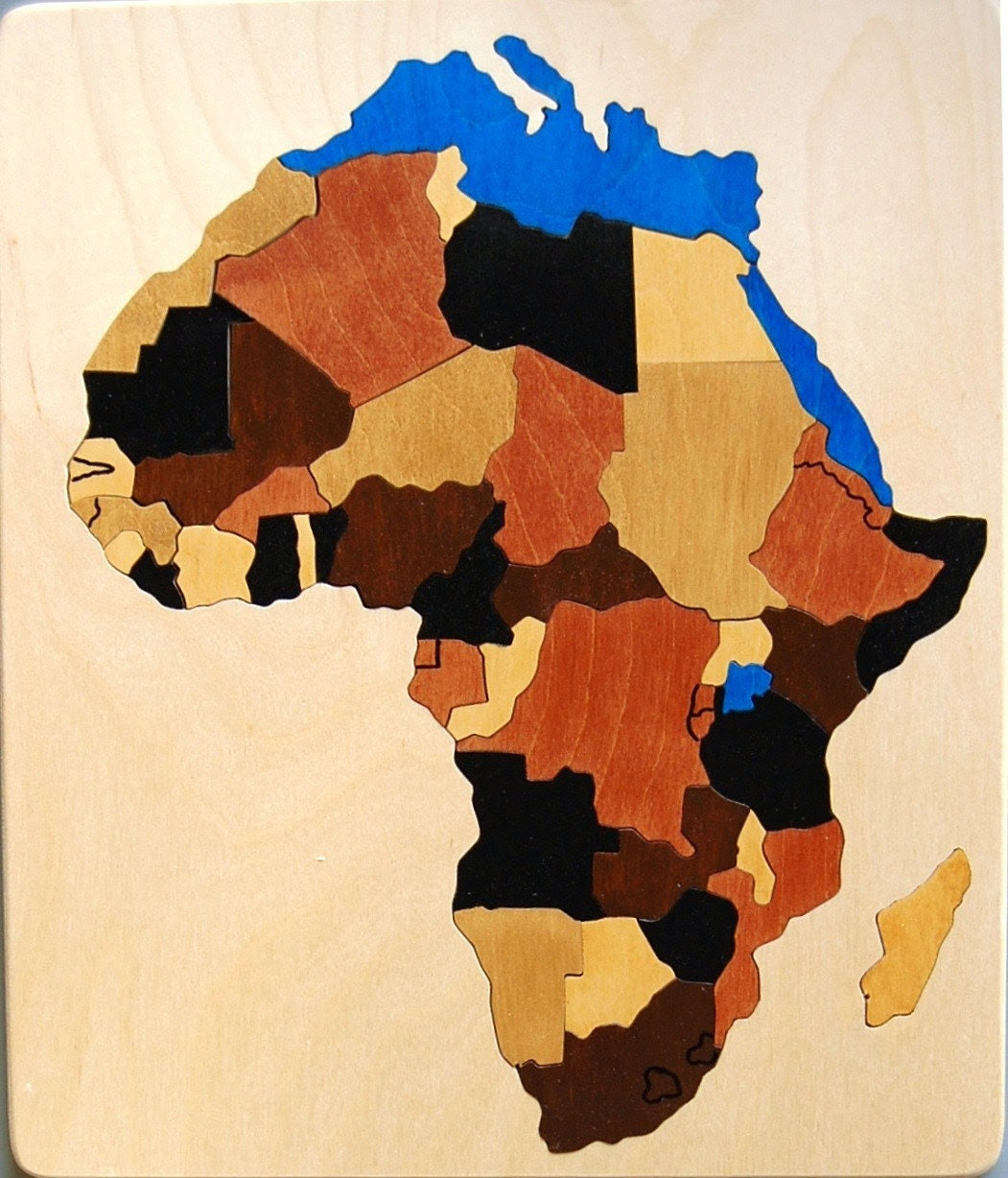 Wooden Map Puzzle of Africa