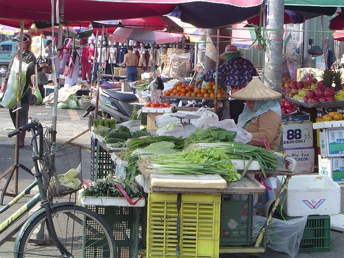 Part of a morning market