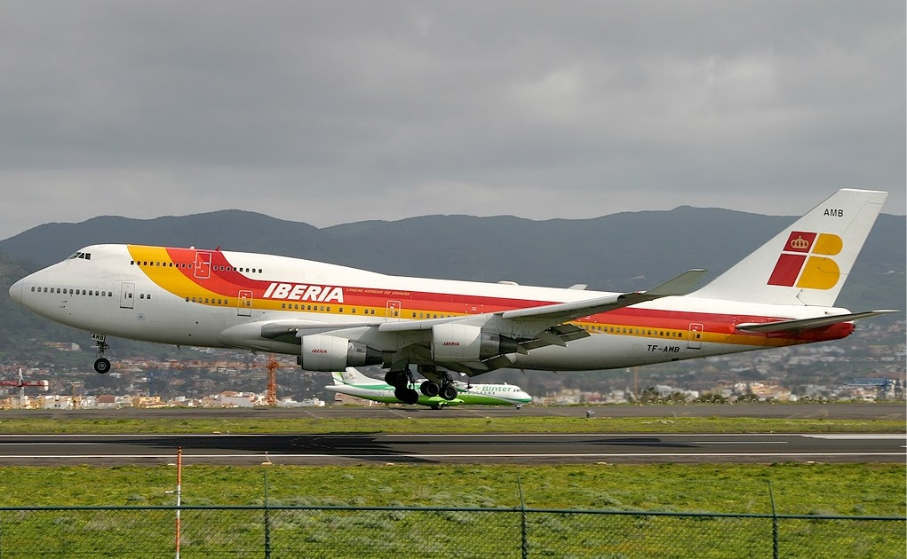 Iberia boeing b747 400 flaps aviaci n aviation for Interieur 747