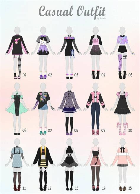closed casual outfit adopts   rosariy anime en