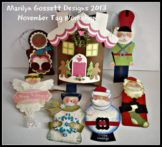 KIT to make 6 Christmas Tag/Ornaments by stuffandthingsandco, $15.00