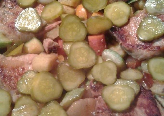 Easiest Way to Cook Yummy Porc mariné dans du jus de cornichon