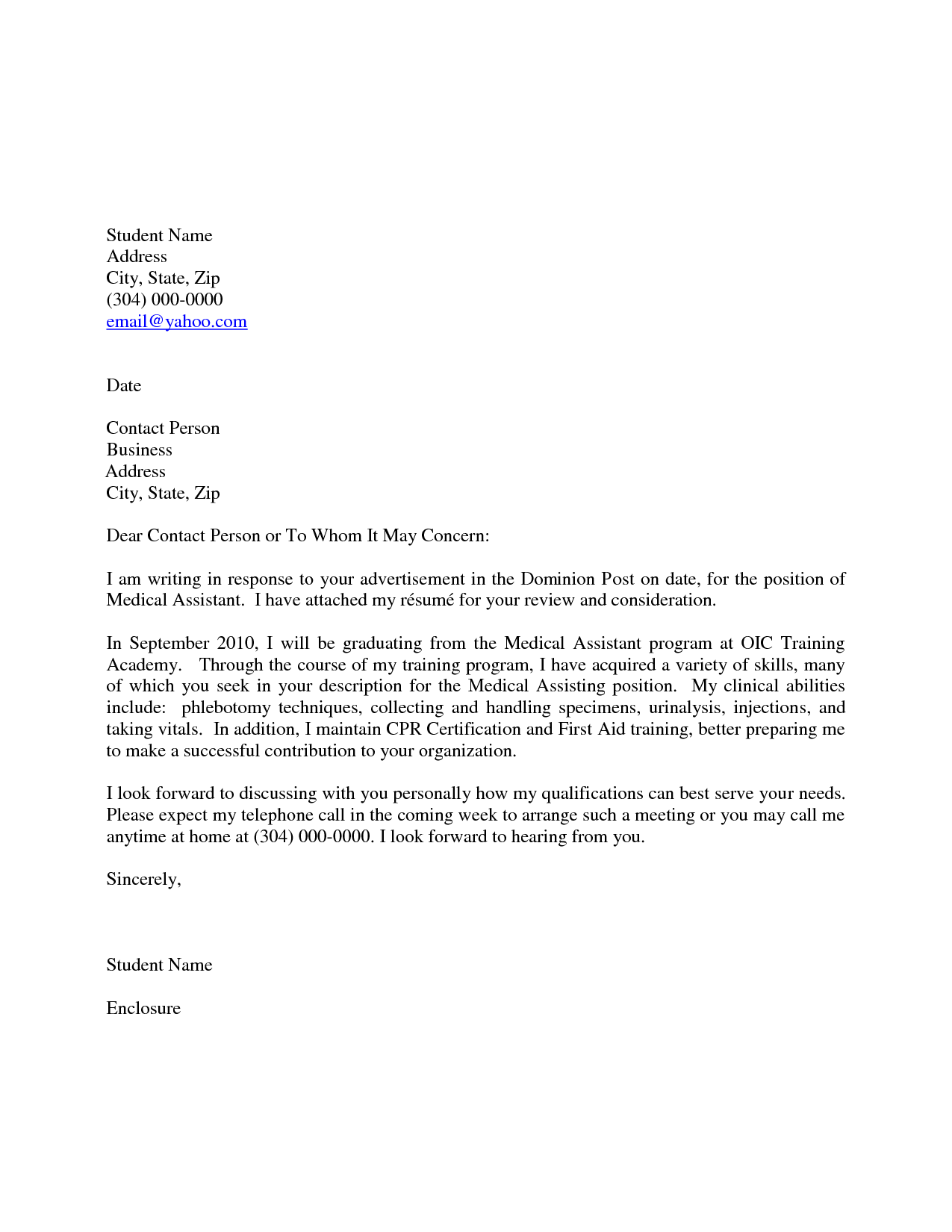 Ma Cover Letter Examples.Letter Medical Cover Letter