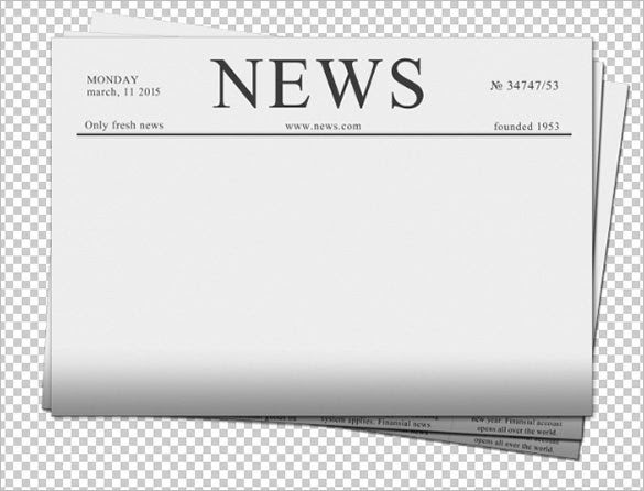 Blank Newspaper Template – 20+ Free Word, PDF, Indesign, EPS ...