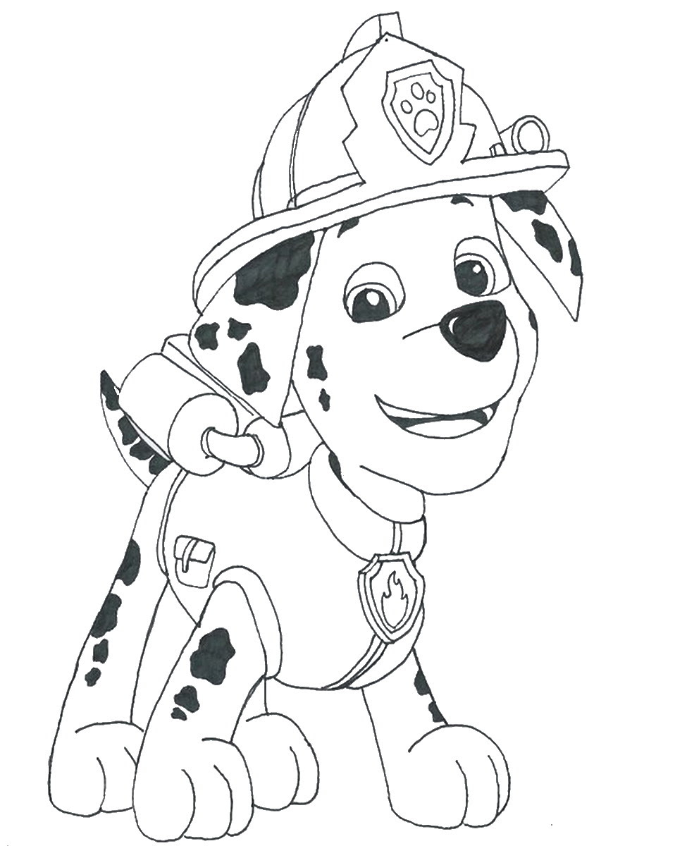 Challenger image for paw patrol free printable coloring pages
