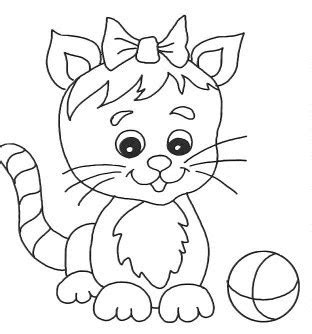 simple  printable cat coloring sheet