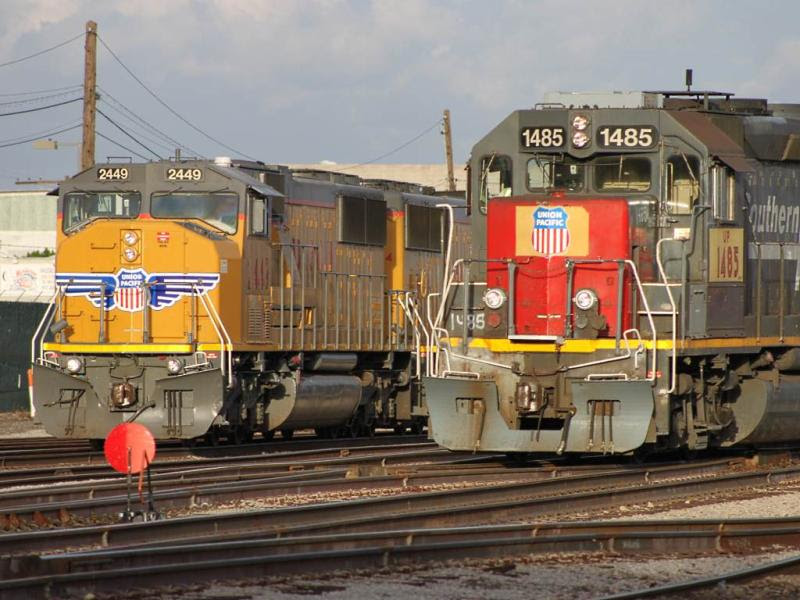 Union Pacific 2449 and 1485 in Phoenix
