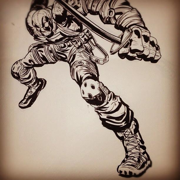 Deadpool #inktober Day 3