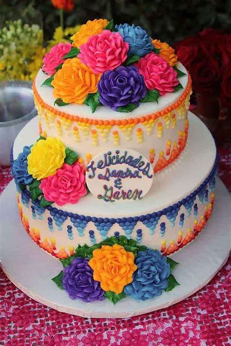 30 Exciting & Colourful Mexican Wedding Cake Ideas