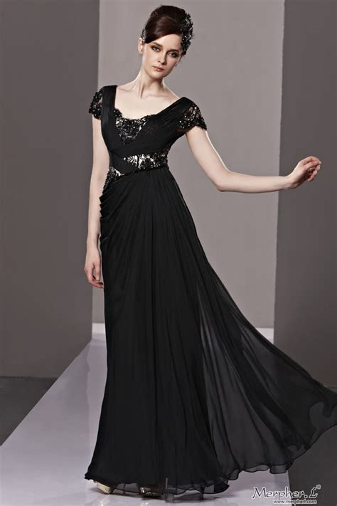 Long Black Dress with Sleeves Ideas   Fashion