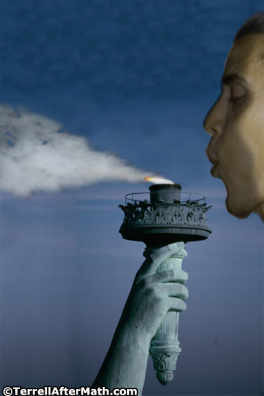 Obama Libs Blow Statue of Liberty Flame Out SC Is Obama A Tyrant?