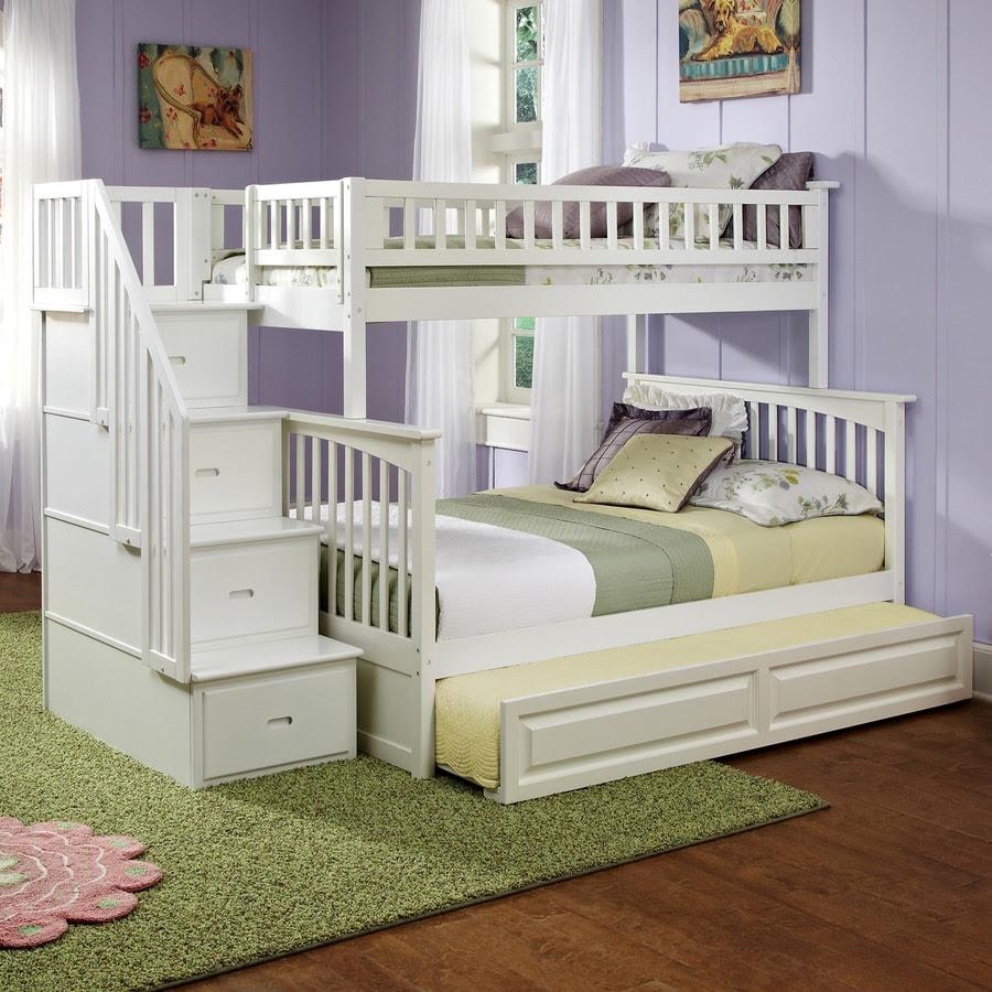 Shop Atlantic Furniture Columbia White Twin Over Full Bunk ...